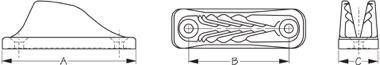 Sea Dog 002090 Dimensions