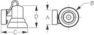 Sea Dog 400420-1 Dimensions