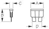 Sea Dog ATO/ATC Fuse Dimenions